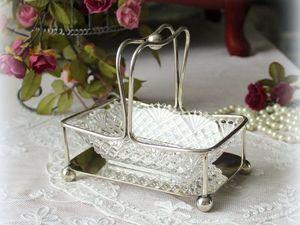 Дополнительные фотографии антикварного блюда для джема/масла. Ярмарка Мастеров - ручная работа, handmade.