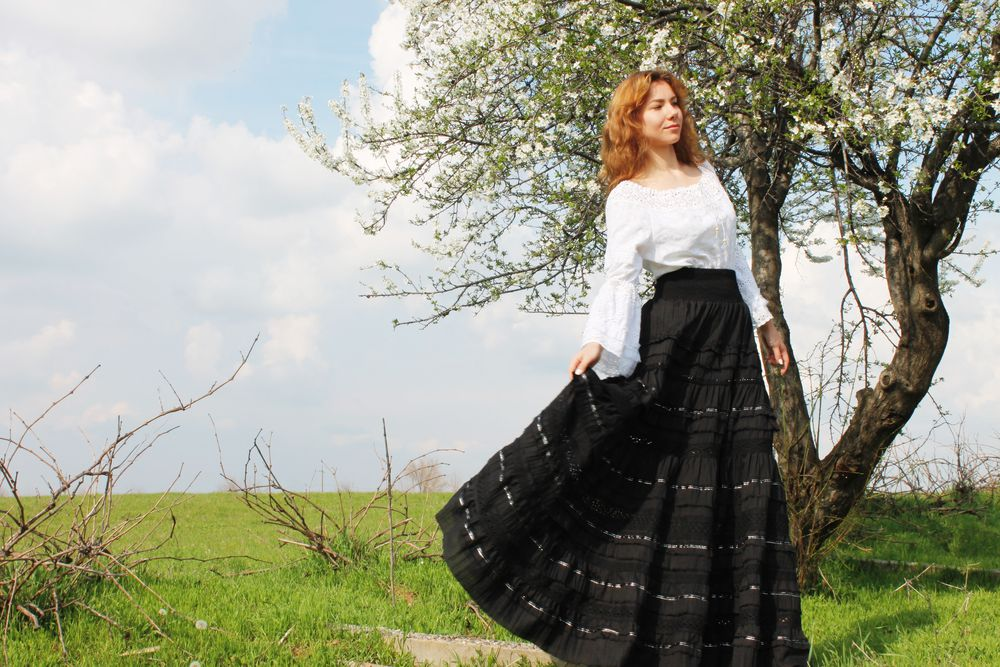 длинная юбка, шикарная юбка