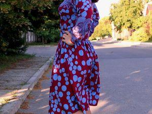 Аукцион на  платье из итальянской вискозы ! Старт 2400 рублей !. Ярмарка Мастеров - ручная работа, handmade.