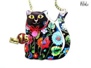 Товар дня: Кот расписной. Ярмарка Мастеров - ручная работа, handmade.