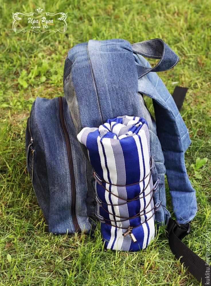 Шьем из джинсовой ткани удобный рюкзак для пикника на берегу моря, фото № 41