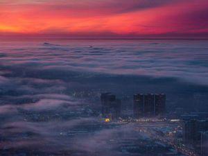 Москва в облаках | Ярмарка Мастеров - ручная работа, handmade