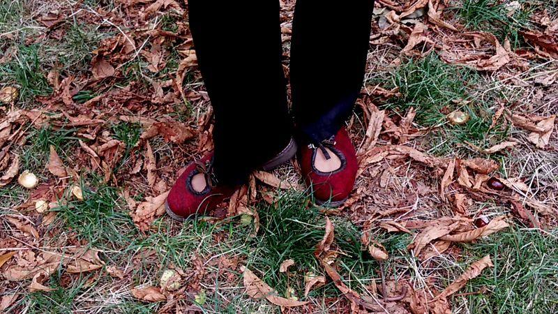 войлок для улицы, демисезонная обувь