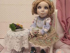 Коллекционная авторская текстильная кукла Софья   Ярмарка Мастеров - ручная работа, handmade