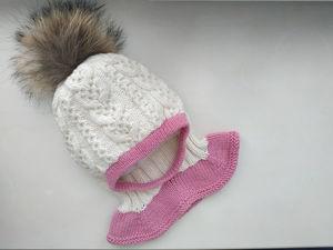 Детская шапка-шлем спицами. Ярмарка Мастеров - ручная работа, handmade.