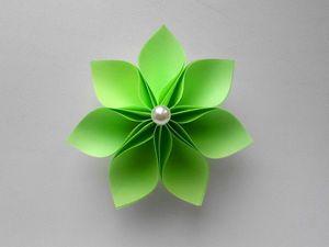 Как сделать красивый цветок из бумаги. Ярмарка Мастеров - ручная работа, handmade.
