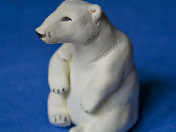 Лепим белого медведя из полимерной глины   Ярмарка Мастеров - ручная работа, handmade