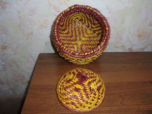 Плетеная шкатулка с орнаментом: видео мастер-класс. Часть 1. Ярмарка Мастеров - ручная работа, handmade.