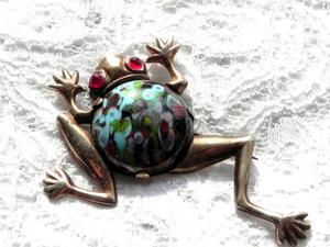 Видео. Серебряная брошь Лягушка, США, 40ые годы. Ярмарка Мастеров - ручная работа, handmade.