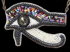 Всевидящее Око Гора: современные украшения из бисера в египетском стиле. Ярмарка Мастеров - ручная работа, handmade.