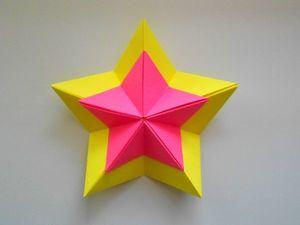 Мастерим звезду из бумаги. Ярмарка Мастеров - ручная работа, handmade.