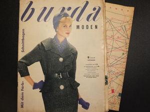 Бурда моден 9/1959 Burda moden. Ярмарка Мастеров - ручная работа, handmade.
