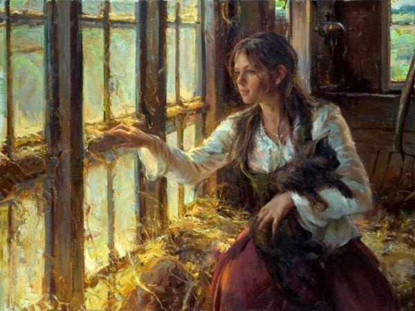 Очаровательные женские образы и пейзажи на полотнах Daniel F. Gerhartz | Ярмарка Мастеров - ручная работа, handmade