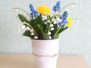 Аукцион с нуля(!) на букет весенних цветов. Ярмарка Мастеров - ручная работа, handmade.