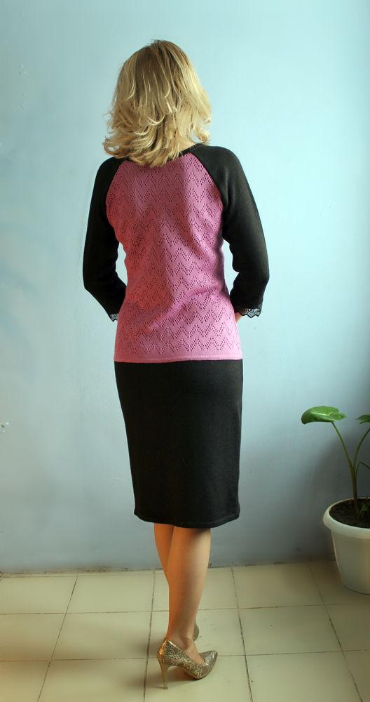 аукцион, аукцион на вязаное платье, сиреневое с черным платье, черное платье аукцион, распродажа платьев, распродажа вязаных