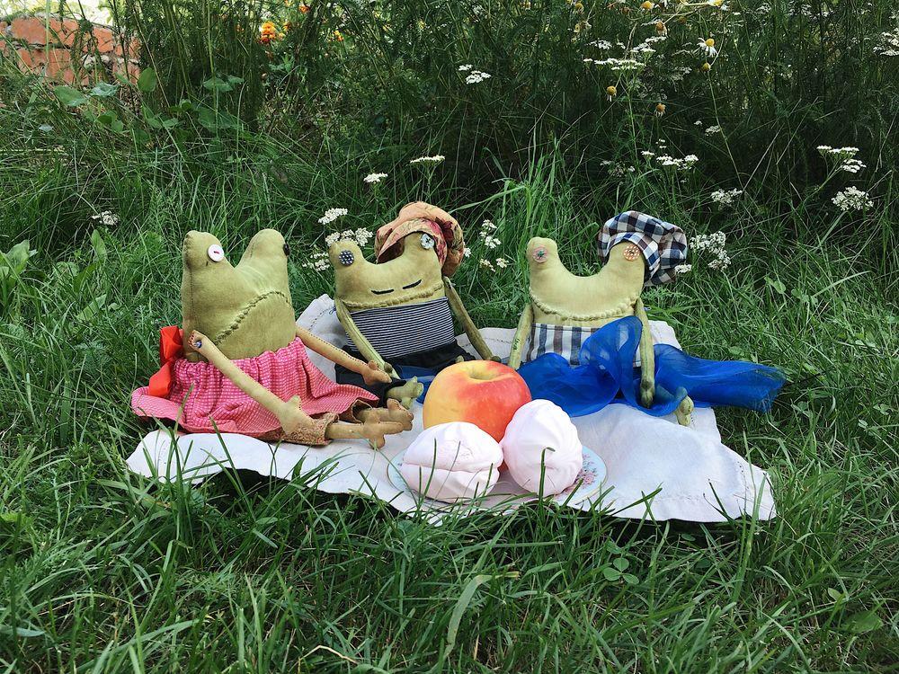 пикник, жабка, француз, багет, игрушка, париж