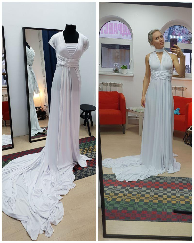 новинки, белое платье