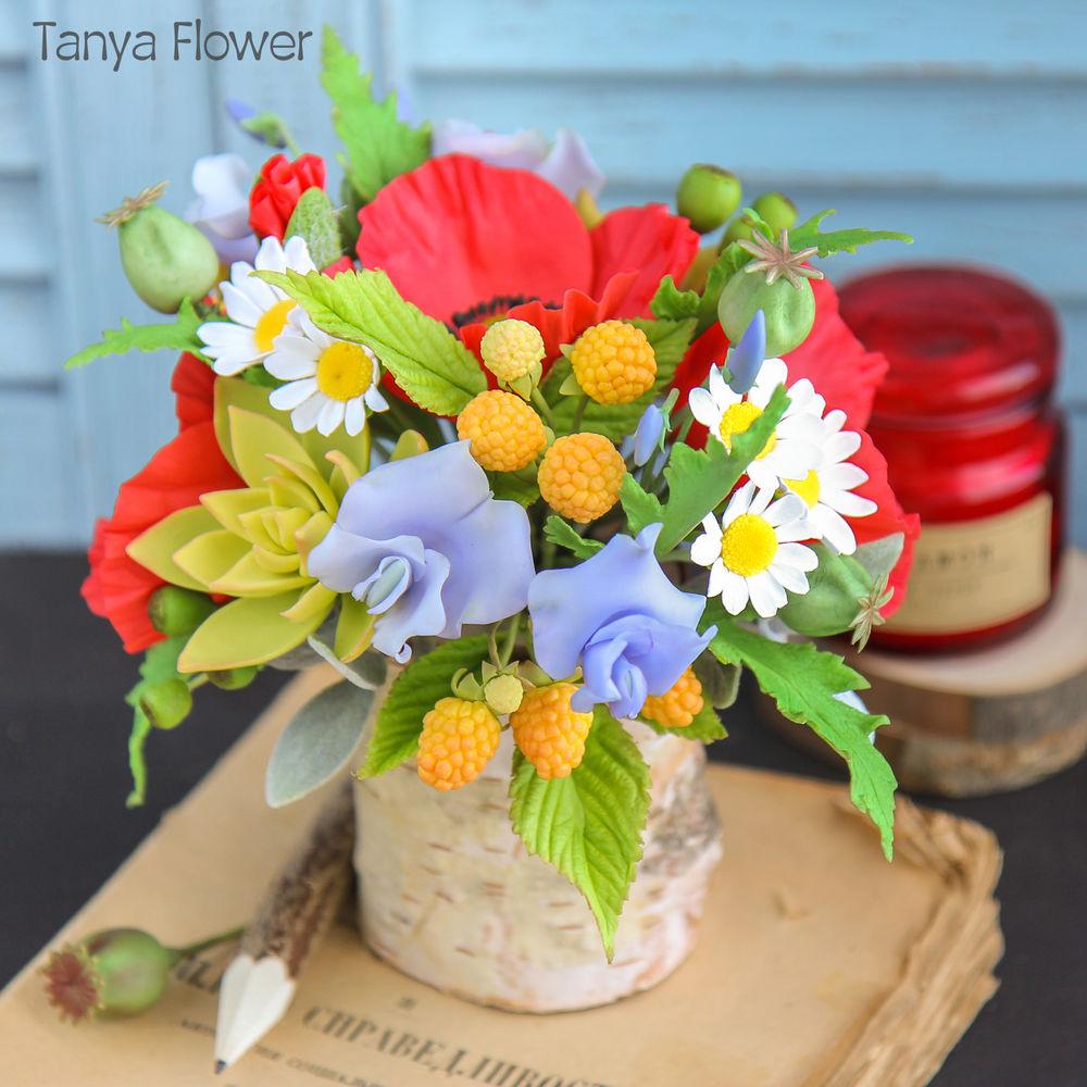 полимерная флористика, цветы в подарок