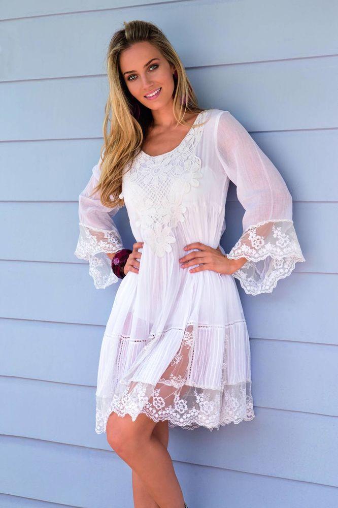 Белое бохо, или Шикарная одежда для королевы летнего пляжа, фото № 105