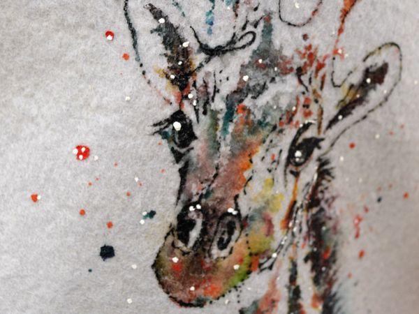 Отчет МК роспись войлочного изделия методом по сухому в Шкатулочке | Ярмарка Мастеров - ручная работа, handmade