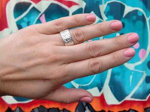 Новинка! Широкие парные кольца Альпы, серебро 925 пробы. Ярмарка Мастеров - ручная работа, handmade.