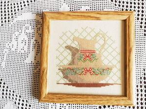 Щедрый аукцион. Картина вышитая с кувшином в миске. Ярмарка Мастеров - ручная работа, handmade.