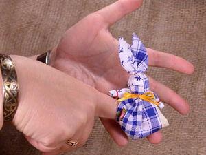 Зайчик на пальчик. Народная игровая кукла. Ярмарка Мастеров - ручная работа, handmade.
