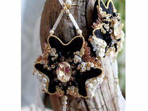 Готовые украшения. Вышивка люневильским крючком.. Ярмарка Мастеров - ручная работа, handmade.