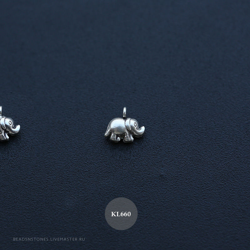 серебряный слон, серебряный листик