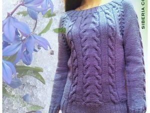 Хотите свитер ручной работы с косами?. Ярмарка Мастеров - ручная работа, handmade.