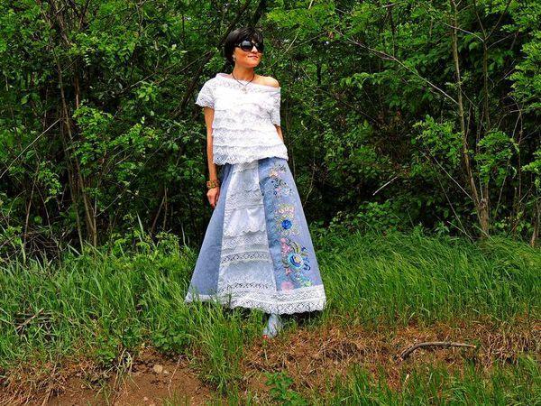 Новинка! Летний комплект Бохо (блузка, юбка)   Ярмарка Мастеров - ручная работа, handmade