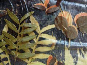 Растительные принты на шелке и войлоке. МК 18 марта. Новосибирск | Ярмарка Мастеров - ручная работа, handmade