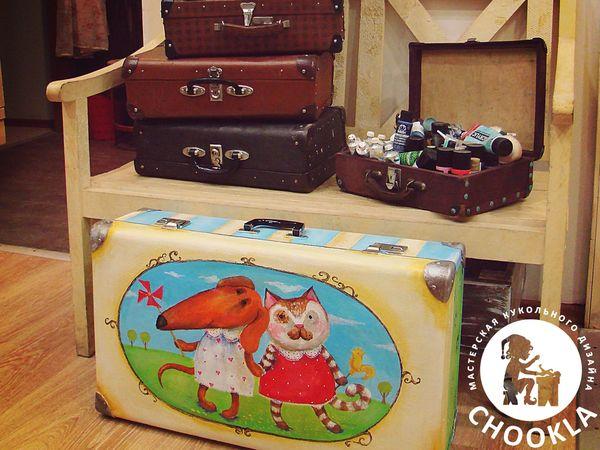 Декорируем старый чемодан   Ярмарка Мастеров - ручная работа, handmade f726a7a85e8