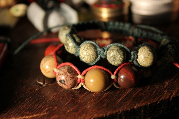 шамбала, браслеты из камней, змеевик, гематит, украшения