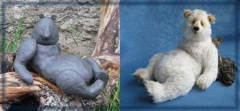 мишки тедди, пластлиновый макет