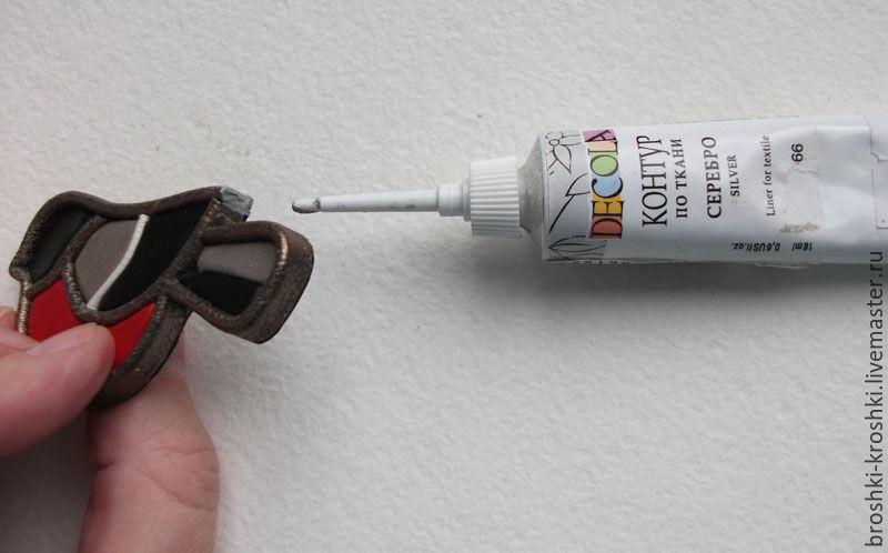 Делаем синичку в витражной технике из кожи, фото № 27