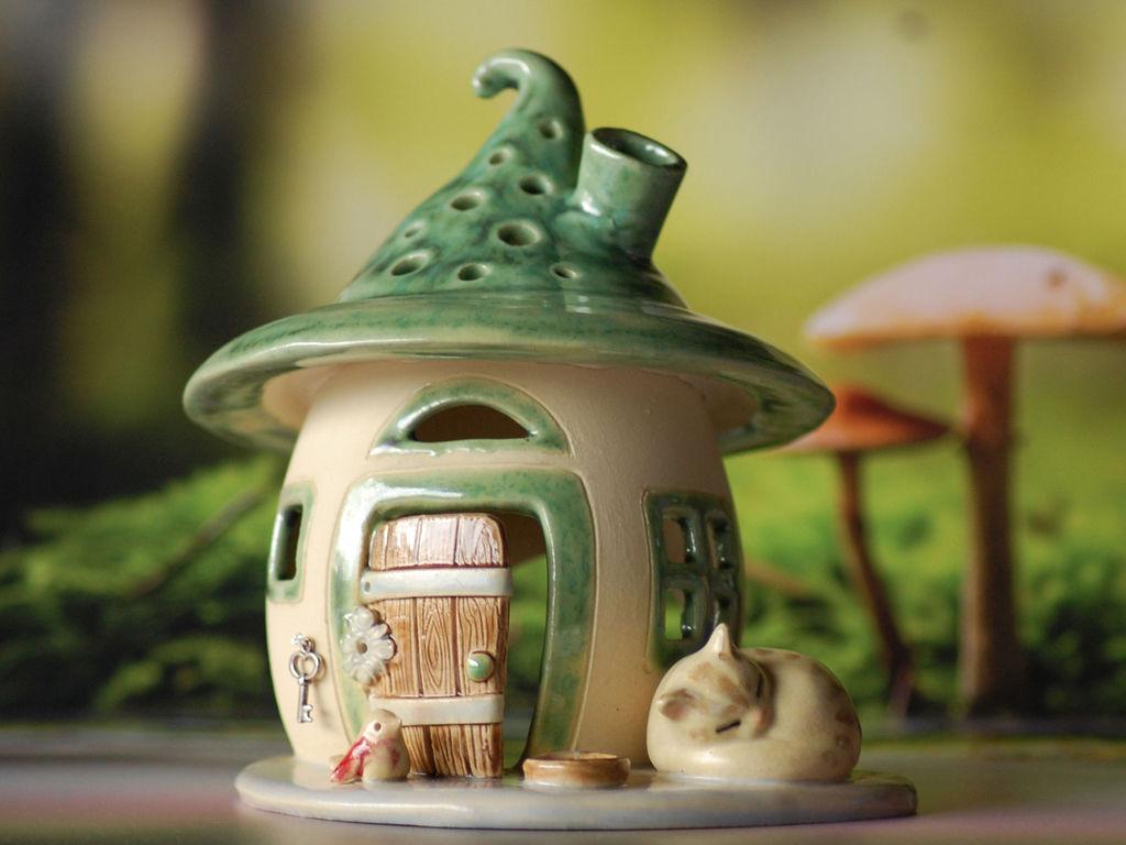 Домики для фей: волшебные керамические подсвечники Antje Rosemann, фото № 28