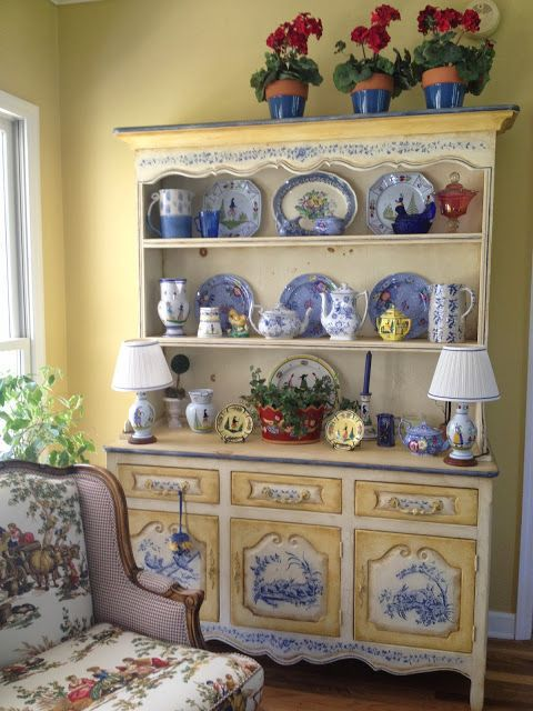 French Country blue and yellow