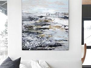 Интерьерная картина Северное море. Ярмарка Мастеров - ручная работа, handmade.