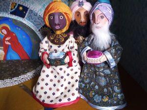 Рождественский вертеп. Волхвы: мудрецы на троне. Ярмарка Мастеров - ручная работа, handmade.