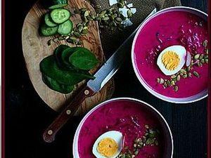 Кулинарные рецепты! Холодный литовский суп (Свекольник)! Салаты!   Ярмарка Мастеров - ручная работа, handmade
