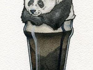 Звери в бокалах: иллюстрации Jon Guerdrum. Ярмарка Мастеров - ручная работа, handmade.