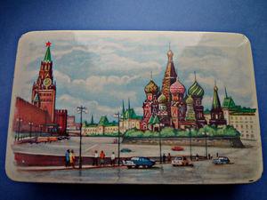 Жестяная коробка Красная площадь, Москва ретро. Ярмарка Мастеров - ручная работа, handmade.