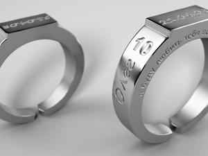 Оловянные кольца «10 лет». Ярмарка Мастеров - ручная работа, handmade.