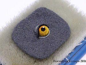 DIY on How to Felt an Eye with the Lid. Livemaster - handmade