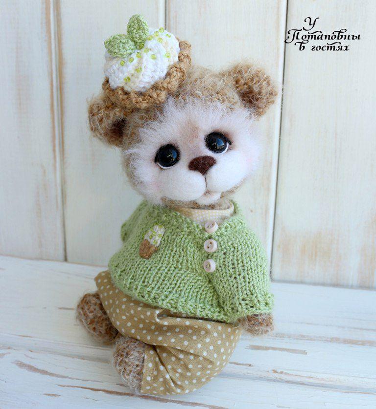у потаповны в гостях, teddy bear, авторский мишка