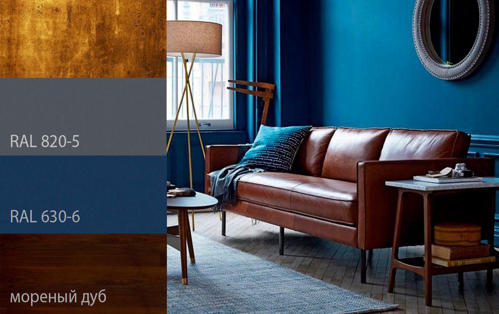 дизайн, дизайн интерьера, интерьер, синий цвет, дерево, золото, золотой, мода, стиль, цвет, индиго, дом, декор, сочетание цветов, цвет в интерьере, цветовые решения