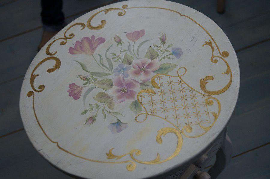 расписная мебель, обучение декорированию