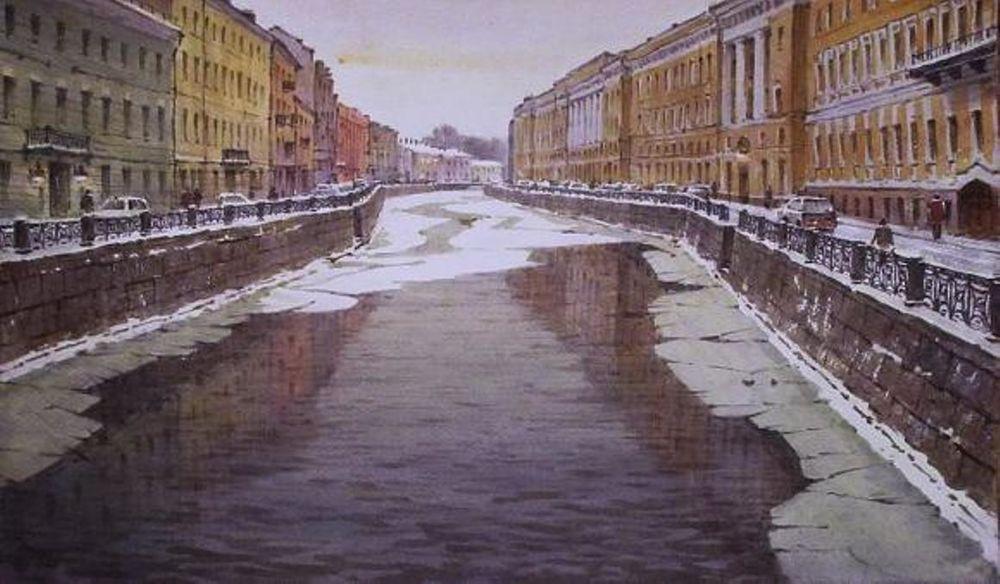 Акварельные пейзажи художника Ильи Горгоца, фото № 38