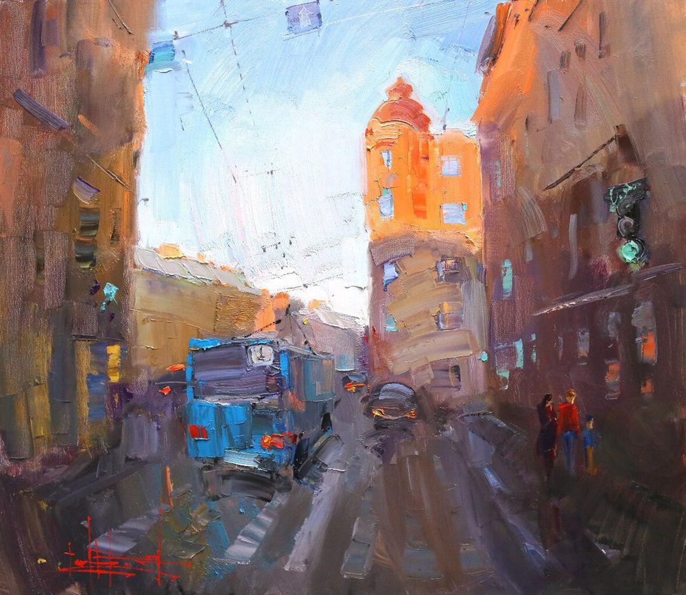 Konstantin Sukhopluev: Artist Painting Rain, фото № 19